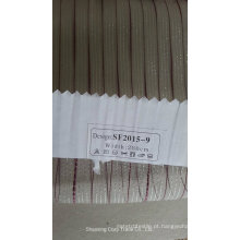 New Moda Stripe Organza Sheer Cortina Tecido 201509