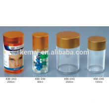 Pill bottle table bottle Screw cap bottle garrafa de plástico vazia