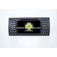 Quad core!car dvd with mirror link/DVR/TPMS/OBD2 for 7inch touch screen quad core 4.4 Android system E39