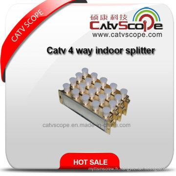 Répartiteur d'intérieur CATV 4 Way