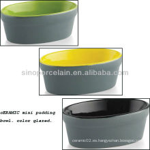 Colorido cerámica Mini Pudding Bowl para BS12085C