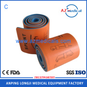 First aid universal orange blue roll splint