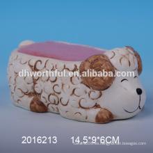 2016 Lovely ovejas diseñar titular de esponja de cerámica para la cocina