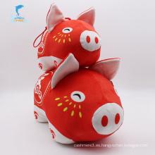 Juguete de peluche suave con forma de huevo animal de cerdo