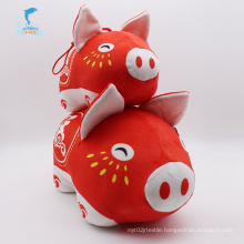 Plush egg-shaped animal soft pig toy