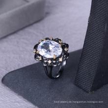 Schmuckherstellung liefert weißen Stein Zirkon Ring Schmuck für Frauen