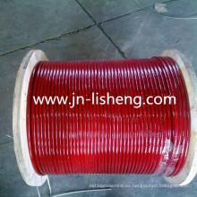 Cuerda de alambre de acero revestida del PVC