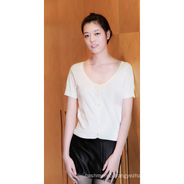 Ladies′ Worsted Cashmere and Cotton Pullover/ Vest