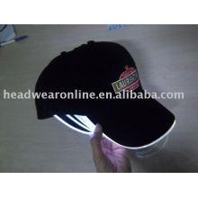 Gorros de beisebol LED com logotipo bordado