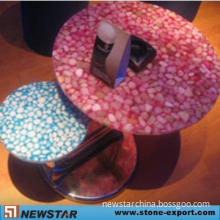 Artificial Resin Pebble Tile and Table Top