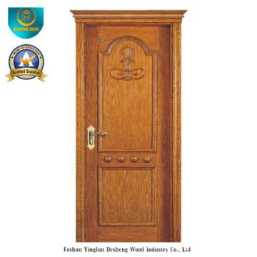 Porta de madeira maciça de estilo clássico para exterior (ds-8027)