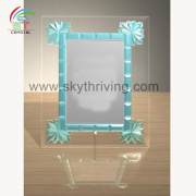 wholesale crystal crafts picture photo frame $1 dollar glass photo frame