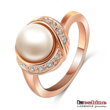 Rose Gold Plated Pearl Ring Wedding Jewelry (Ri-HQ1020-A)
