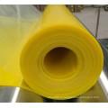 Feuille en caoutchouc glacée de silicone de feuille en caoutchouc de silicone de couleur jaune