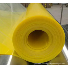Gelbes Farbsilikon-Gummi Blatt-glänzendes Silikonkautschuk-Blatt