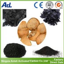 8x16 coquille de noix de coco à base de charbon actif