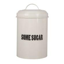 Enamel steel white kitchen canister