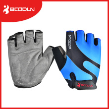 Unisex Suede Sports Gloves / Half Finger Fitness Gym Gloves with Subimation Transfer