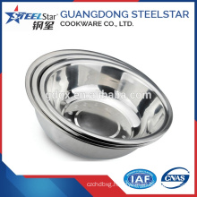 Inox bowl Stainless steel mixing bowl dinner basin stainless steel wash basin