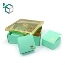 Boîte-cadeau de thé de carton recyclé pliable personnalisé