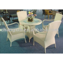 Hot Selling Outdoor Garden Rattan Chair and Table, PE Rattan Furniture