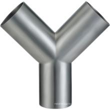 Stainless Steel Y-Type Welded Sanitary Tee
