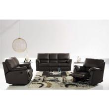 Sofá de salón con sofá moderno de cuero genuino (721)