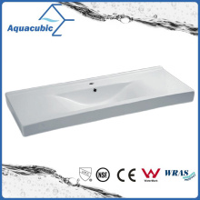 Cuarto de baño rectangular del lavabo de la mano del lavabo del gabinete de cerámica (ACB4612)