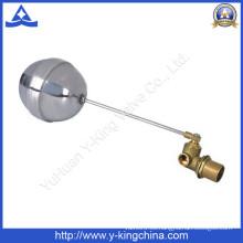 Válvula de bola de flotador de latón con bola de acero inoxidable (YD-3014)