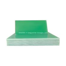 Isolation électrique en fibre de verre verte fr4 feuille époxy