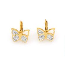 Schöne Edelstahl Gold Schmetterling Ohrring Modelle Schmuck