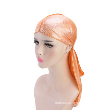Spangle color turbante de pelo de bandana personalizado para mujeres