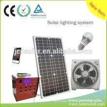 Gerador de energia solar portátil de casa com bateria e carregador