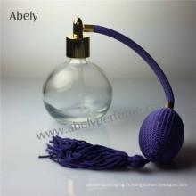 Bulb Spray Atomizer Bouteille de parfum vintage en verre