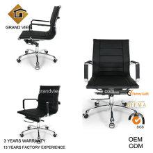 Couro preto elevador Swan escritório assento cadeira (GV-OC-L132)