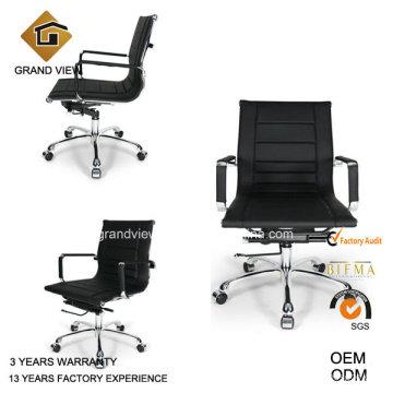 Oficina de cisne elevación cuero negro asientos silla (GV-OC-L132)