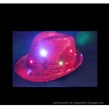 LED-Hüte glänzen Flash Cotton Baseball Black Cap