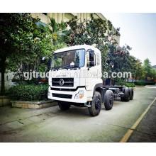 Chasis del camión de Dongfeng de la impulsión 8X4 para el camión volquete / el camión del cargo / el camión de la grúa
