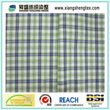Polyester Bamboo Blending Fabric with Plaid