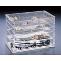 Nach Maß Oberseite 5 Fächer-transparente Acryl-wasserdichte Diamant-Schmucksache-Anzeigen-Kasten