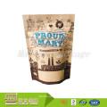 Kundenspezifisches Entwurfs-Kraftpapier stehen oben Nahrungsmittelpaket-Zip-Verschluss-Plastikwiederverwendbare Snack-Tasche