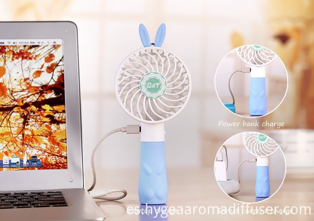 rabbit handheld fan