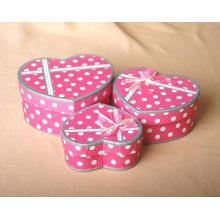 Paper Cosmetic Box with Hart Shape for Packing