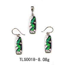 Conjunto de joyería de plata de ópalo (YS00028)