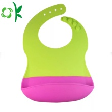 Customized Logo Children Easily Wipes Soft Silicone Bibs