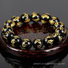 2015 Gets.com desean los granos de rezo budistas del mal negro onyx