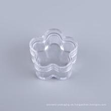 Blumen-Form-kosmetisches Plastikglas (NJ02)