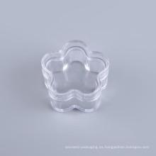 Tarro plástico cosmético de la forma de la flor (NJ02)