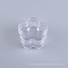 Bocal en plastique en forme de fleur (NJ02)
