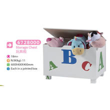 Jouets en bois Stockage Boîte à jouets Boîte à bancs Meubles pour enfants Décor de poitrine Décoration Boîtier de rangement de coffre